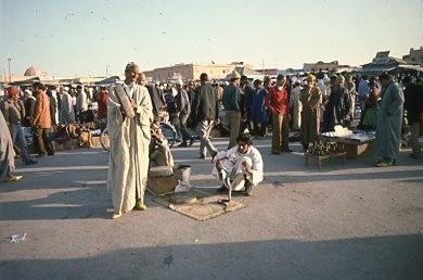 Cobra charmer, Djemaa El-Fna, Marrakesh; Linda Summersea photo